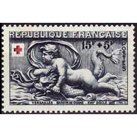 France num Yvert 938 ** MNH croix rouge Année 1952