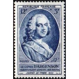 France num Yvert 940 ** MNH Journee du timbre Année 1953