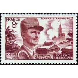 France num Yvert 942 ** MNH General Leclerc Année 1953