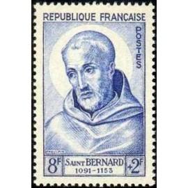 France num Yvert 945 ** MNH St Bernard Année 1953