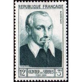 France num Yvert 946 ** MNH Olivier de Serres Année 1953