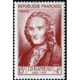 France num Yvert 947 ** MNH JP rameau musique Année 1953