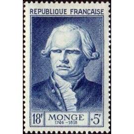 France num Yvert 948 ** MNH Gaspard Monge Math Année 1953