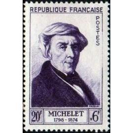France num Yvert 949 ** MNH Jules Michelet Année 1953