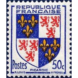 France num Yvert 951 ** MNH Armoiries Picardie Année 1953