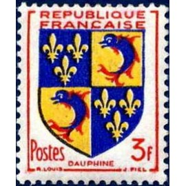 France num Yvert 954 ** MNH Armoiries Dauphiné Année 1953