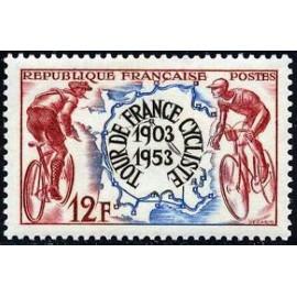 France num Yvert 955 ** MNH tour de France Velo Année 1953