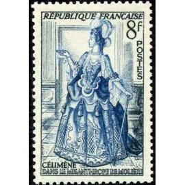 France num Yvert 956 ** MNH Celimene theatre Année 1953