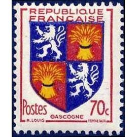 France num Yvert 958 ** MNH Armoiries Gascogne Année 1953