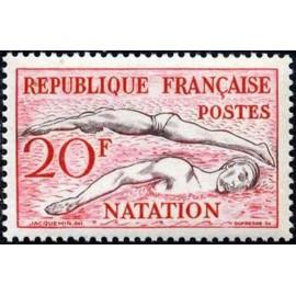 France num Yvert 960 ** MNH JO helsinki 1952 Année 1953