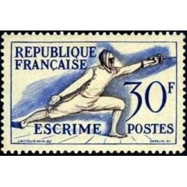 France num Yvert 962 ** MNH JO helsinki 1952 Année 1953