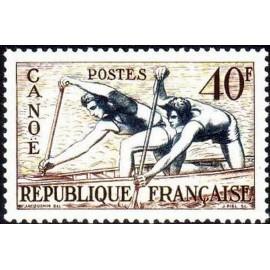 France num Yvert 963 ** MNH JO helsinki 1952 Année 1953