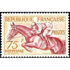 France num Yvert 965 ** MNH JO helsinki 1952 Année 1953