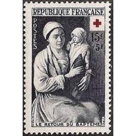 France num Yvert 967 ** MNH Croix Rouge Année 1953