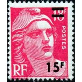 France num Yvert 968 ** MNH Gandon sur 15f Année 1954