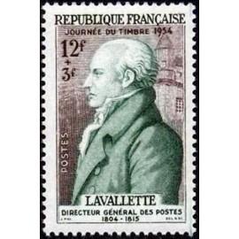 France num Yvert 969 ** MNH Journée du timbre  Année 1954