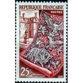 France num Yvert 970 ** MNH tapisserie gobelins Luxe Année 1954