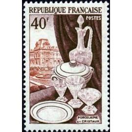 France num Yvert 972 ** MNH porcelaine Luxe Année 1954