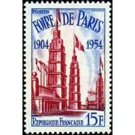 France num Yvert 975 ** MNH Paris Année 1954