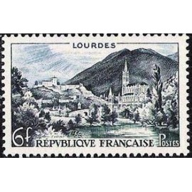 France num Yvert 976 ** MNH Lourdes Année 1954
