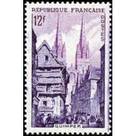 France num Yvert 979 ** MNH Quimper Année 1954