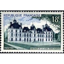 France num Yvert 980 ** MNH Cheverny Année 1954