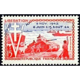 France num Yvert 983 ** MNH liberation char Année 1954