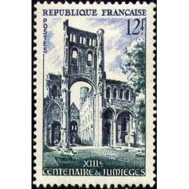 France num Yvert 985 ** MNH Jumièges Année 1954