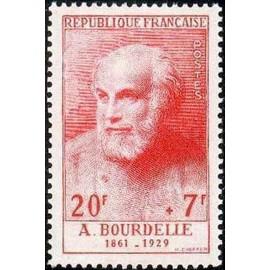 France num Yvert 992 ** MNH Bourdelle Année 1954