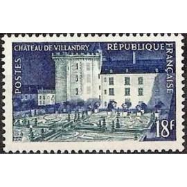 France num Yvert 995 ** MNH Château de Villendry Année 1954