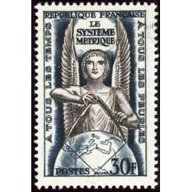 France num Yvert 998 ** MNH Systeme metrique franc  Année 1954