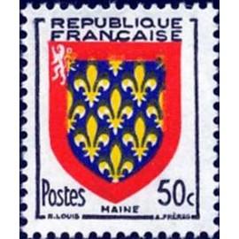 France num Yvert 999 ** MNH Armoiries Maine Année 1954