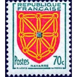 France num Yvert 1000 ** MNH Armoiries Navarre Année 1954