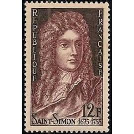 France num Yvert 1008 ** MNH Duc de St Simon Année 1955
