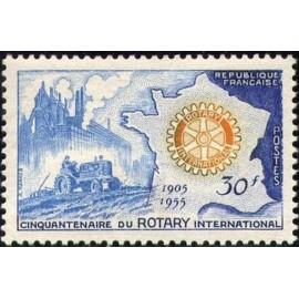 France num Yvert 1009 ** MNH Rotary tracteur Année 1955