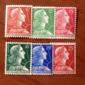 France num Yvert 1009A-1011C ** MNH Muller Année 1955