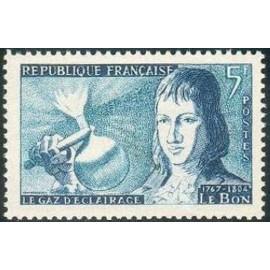 France num Yvert 1012 ** MNH Gaz lumiere Année 1955