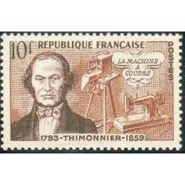 France num Yvert 1013 ** MNH coudre Thimonnier Année 1955