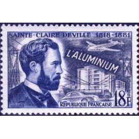 France num Yvert 1015 ** MNH Aluminium Deville Année 1955