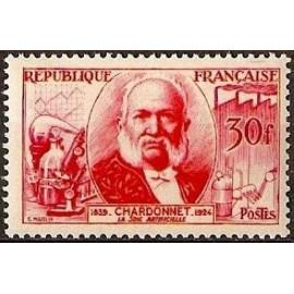France num Yvert 1017 ** MNH Soie Artificielle Année 1955