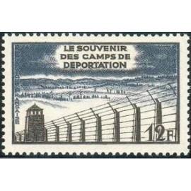 France num Yvert 1023 ** MNH Deportation Année 1955