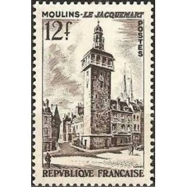 France num Yvert 1025 ** MNH Moulins Nievre Année 1955