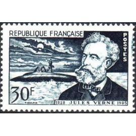 France num Yvert 1026 ** MNH Jules Vernes Année 1955