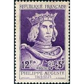 France num Yvert 1027 ** MNH Philippe Auguste Roi Année 1955