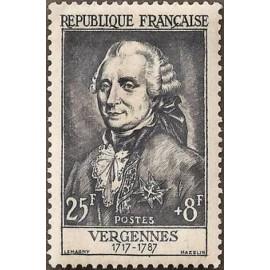 France num Yvert 1030 ** MNH Vergennes Année 1955
