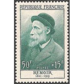 France num Yvert 1032 ** MNH Renoir Année 1955