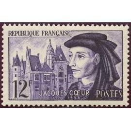 France num Yvert 1034 ** MNH Jacques Cœur Bourges Année 1955