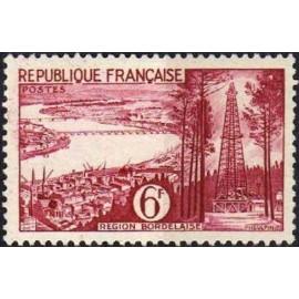 France num Yvert 1036 ** MNH Petrole gironde Année 1955
