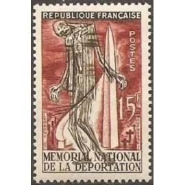 France num Yvert 1050 ** MNH Struthof deportation Année 1956