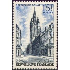 France num Yvert 1051 ** MNH Beffroi de Douai Année 1956